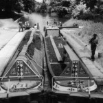 Old Narrow boats laden with coal