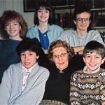 Muriel with Helen, Fiona. Ian, Emma, Andrew