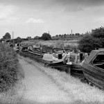 Narrow Boats on Coventry Canal, nr Tamworth. c1955